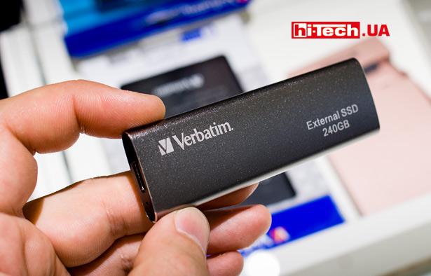 Внешний SSD-диск Verbatim с подключением по USB Type-C