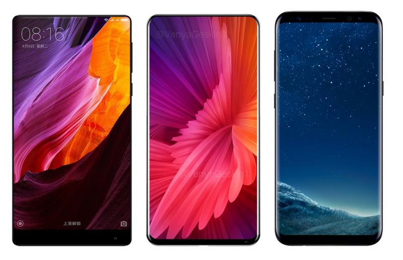 Xiaomi Mi Mix 2 и Mi Mix в сравнении с Samsung Galaxy S8