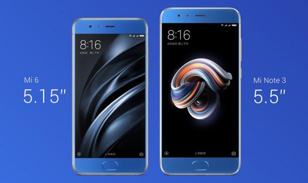 Xiaomi Mi Note 3 и Xiaomi Mi 6