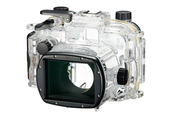 В качестве дополнительного аксессуара (стоит около $500) для Canon PowerShot G1 X Mark III предусмотрен защитный водонепроницаемый бокс WP-DC56