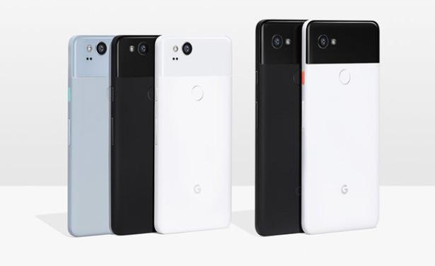 Google Pixel 2 доступен в трех вариантах цветового исполнения, а Google Pixel 2 XL — в двух