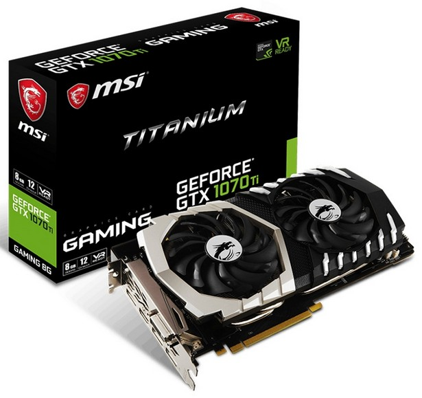 MSI GeForce GTX 1070 Ti Gaming 8G