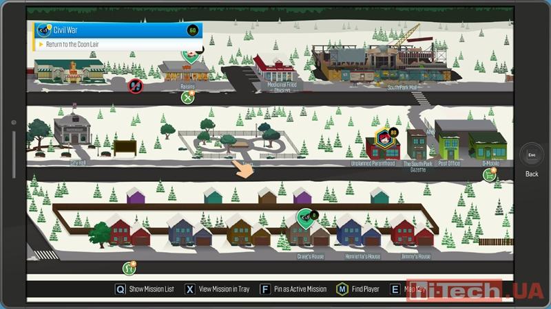 Карта South Park в новой части