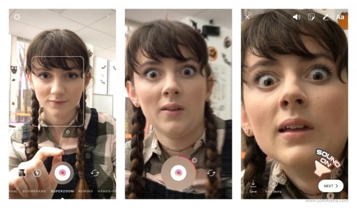 Социальная сеть Instagram  запустил функцию создания драматических видео Superzoom