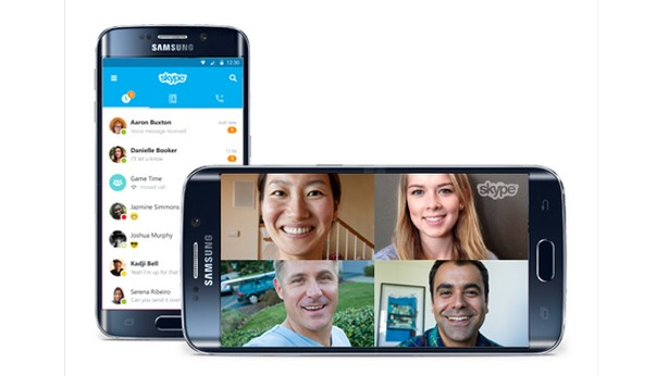 Skype загрузили млрд. пользователей андроид
