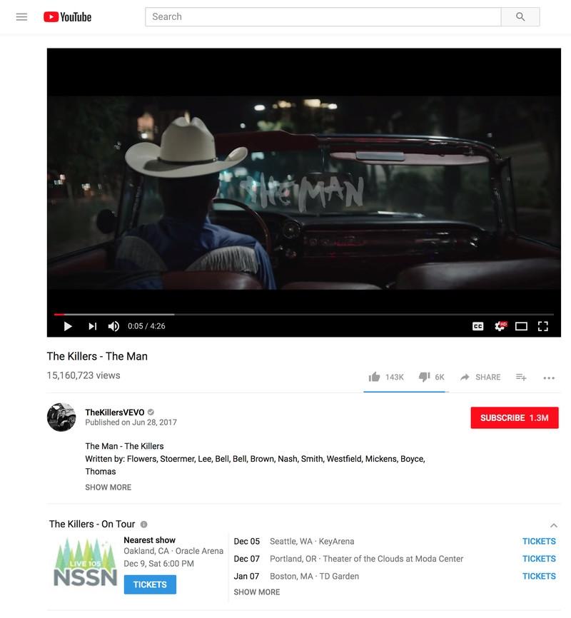 Юзеры смогут заказать билет наконцерт через YouTube