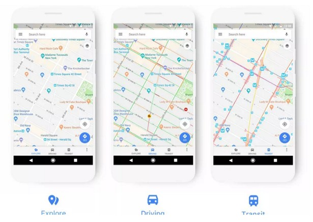 google maps new colors 2