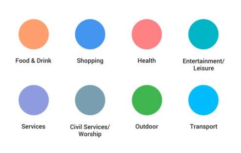 google maps new colors