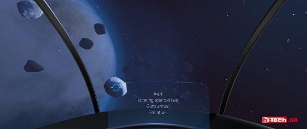 Встроенная в фирменное приложение Tobii демонстрационная игра, знакомящая с возможностями Tobii Eye Tracking. Взглядом вы управляете перемещением камеры и направляете прицел на астероиды