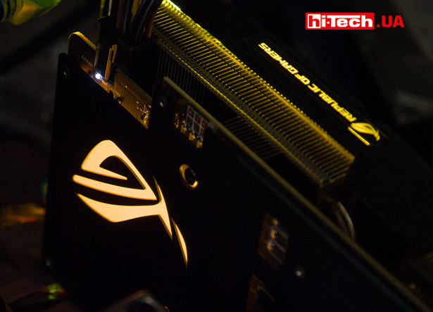 Подсветка ASUS ROG STRIX GeForce GTX 1070 Ti Advanced edition
