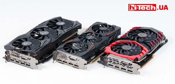 Видеокарты ASUS, Gigabyte, MSI на базе NVIDIA GeForce GTX 1070 Ti