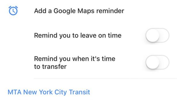 google maps stop reminder