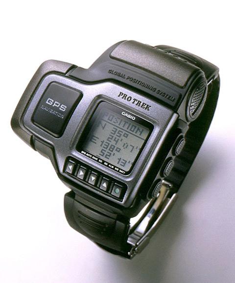 Casio PRT-1GPJ — первые в мире наручные часы с GPS-приемником (1999 год)