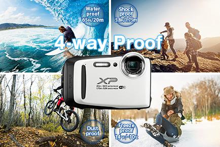 Защита от воды, пыли и ударов в Fujifilm FinePix XP130