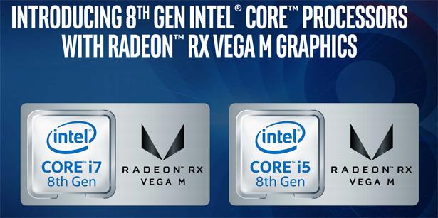 Мобильные процессоры Intel с графикой Radeon RX Vega M