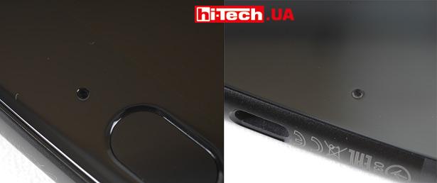 Небольшие дырочки на лицевой и задней панелях — это каналы для микрофонов. Размещены они несколько необычно