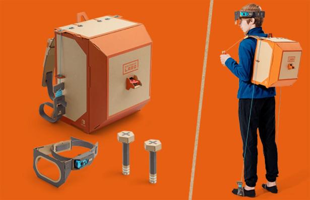 Костюм робота из набора Nintendo Labo Robot Kit