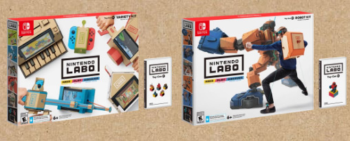 Наборы Nintendo Labo