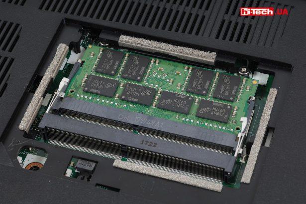 В нашей модификации игрового ноутбука Acer Nitro 5 установлена одна планка оперативной памяти на 16 ГБ