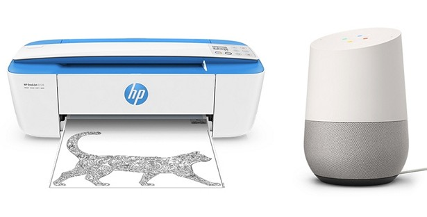 HP printer with Google Assistant