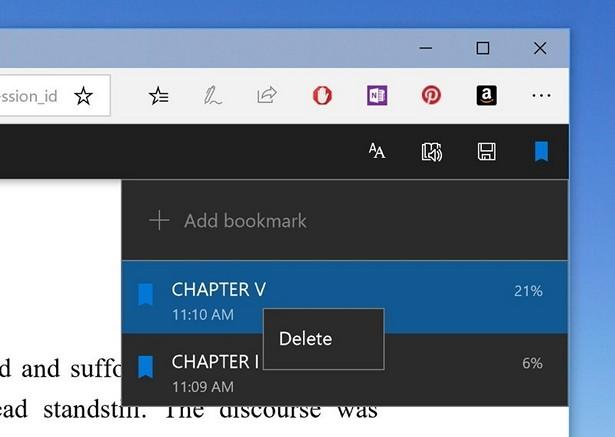 Microsoft Edge in Windows 10 Redstone 4