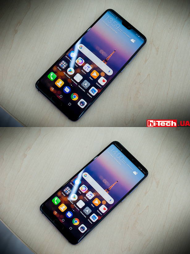 Вырез на экране Huawei P20 Pro