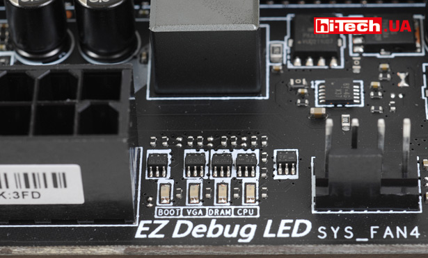 EZ Debug LED на плате MSI Z370 Tomahawk