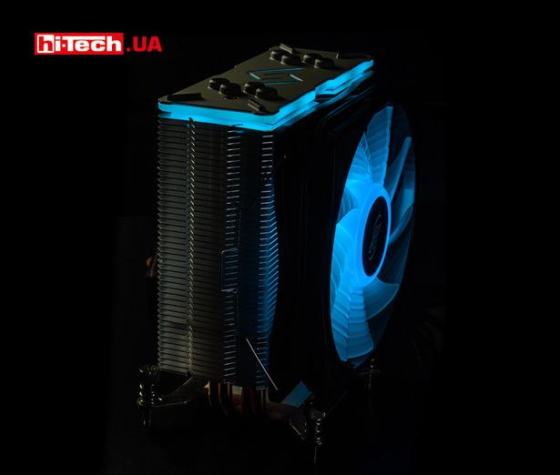 Работа RGB-подсветки кулера Deepcool GAMMAXX GT