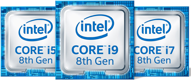 Процессоры Intel Core восьмого поколения для ноутбуков