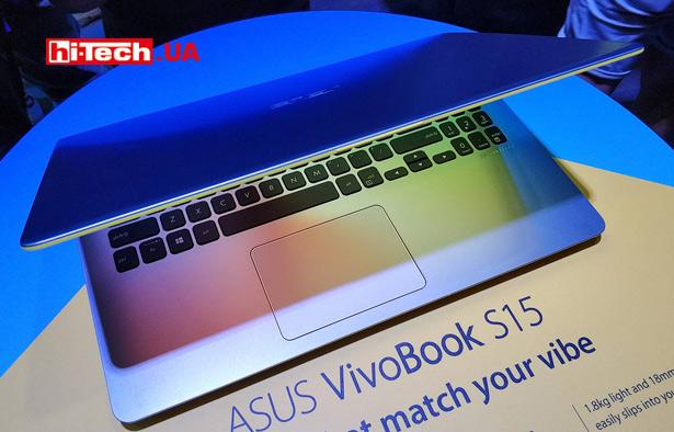 Ноутбук ASUS VivoBook S15 на выставке Computex 2018