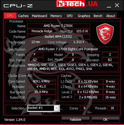 MSI CPU-Z