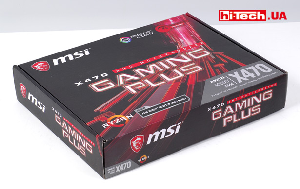 Коробка MSI X470 Gaming Plus