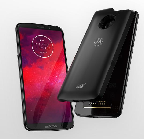 Смартфон Moto Z3 и модуль 5G moto mod