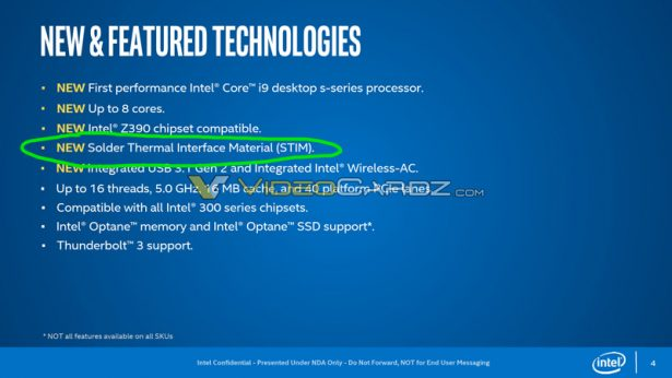 Особенности процессоров Intel Coffee Lake Refresh