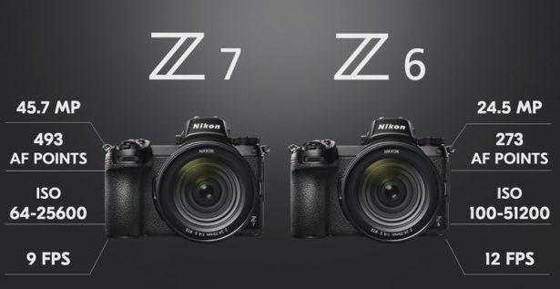 Основные отличия Nikon Z 7 и Nikon Z 6