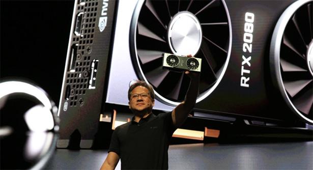 Jensen Huang на презентации NVIDIA GeForce RTX 2070, RTX 2080 и RTX 2080 Ti