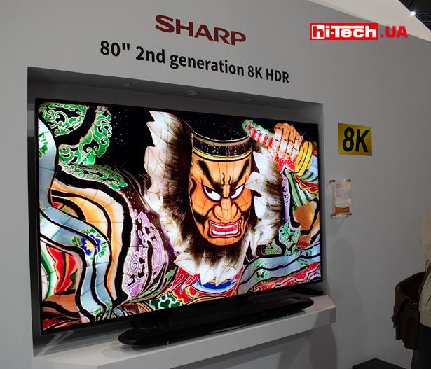Sharp отличилась демонстрацией уже второго поколения 8K-телевизоров