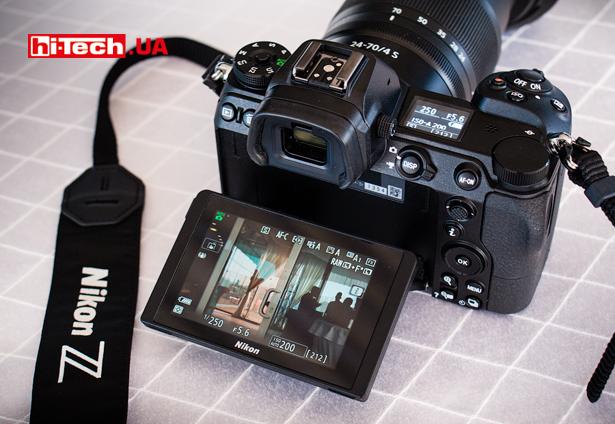 Экран камер Nikon Z 7 и Z 6 откидной