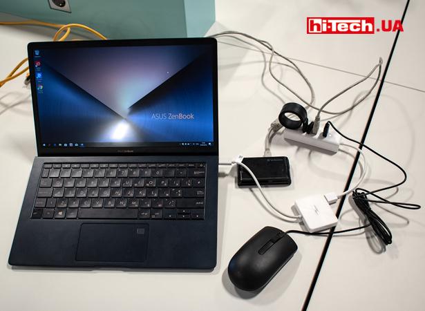 Использование адаптера USB Type-C