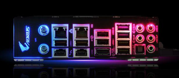 Разъемы Gigabyte Z390 AORUS XTREME