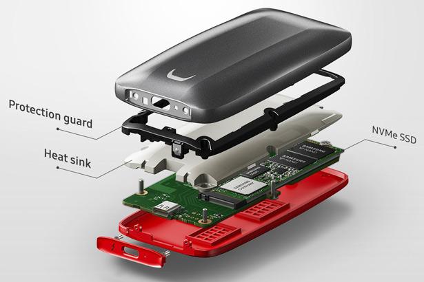 Внутренняя структура Samsung Portable SSD X5