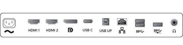 Панель разъемов Philips 499P9H Brilliance