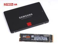 Samsung 860 PRO, 970 EVO