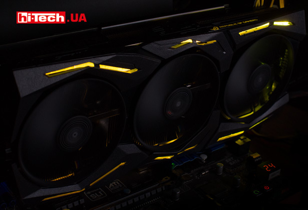 RBG-подсветка ASUS ROG Strix GeForce GTX 1660 Ti OC edition