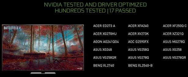 G-Sync Compatible Asus VG278QR VG258