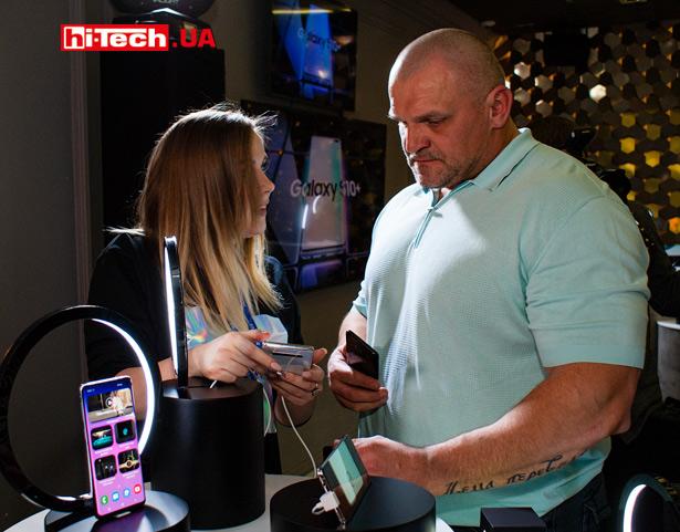 Василий Вирастюк на украинской презентации смартфонов Samsung Galaxy S10+, S10 и S10e