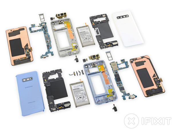Разборка смартфонов Samsung Galaxy S10 и S10e