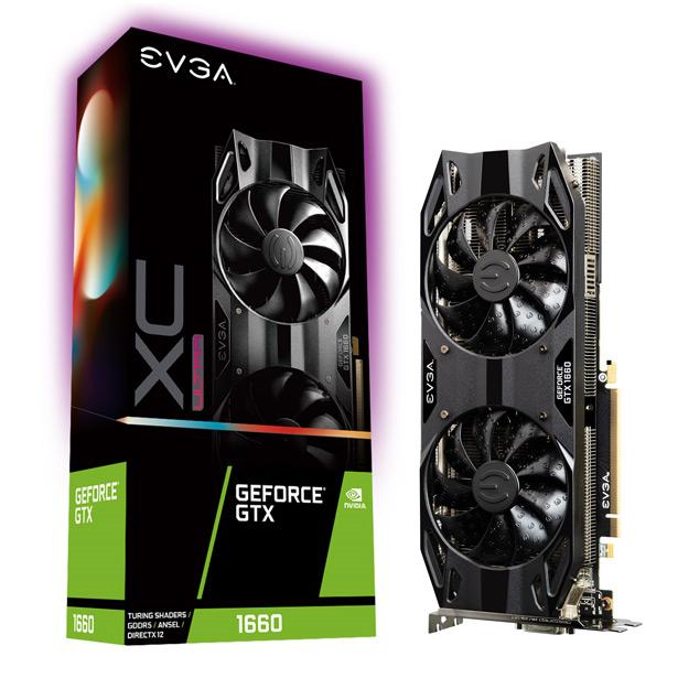 Видеокарта на базе NVIDIA GeForce GTX 1660 от EVGA