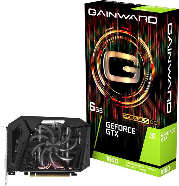Видеокарта на базе NVIDIA GeForce GTX 1660 от Gainward