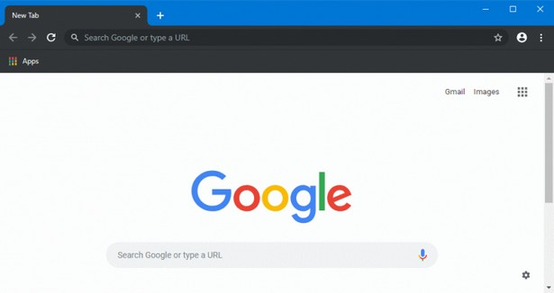 Google Chrome 74 dark